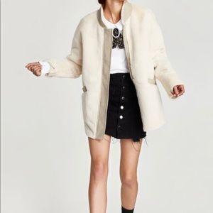 NWOT Zara Contrasting Textured Jacket